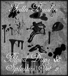 Blood and Splatter Brushes 2 by Falln-Brushes