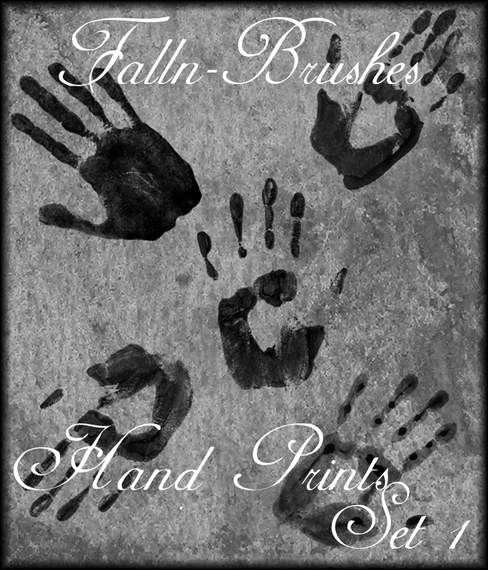 Hand Prints Brushes Set 1