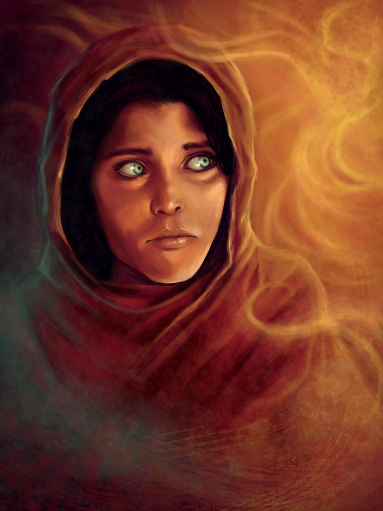 Sharbat the Afghan girl by mappeli