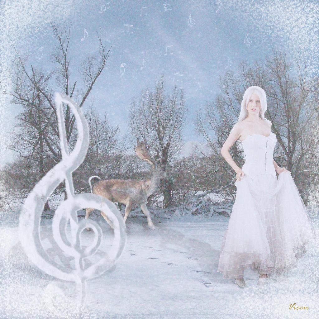 Music snow*Musica de nieve by Mvicen