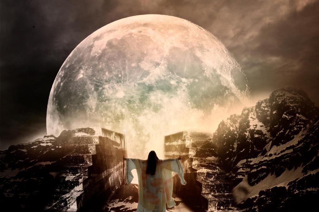 Moon spell-Hechizo de luna by Mvicen