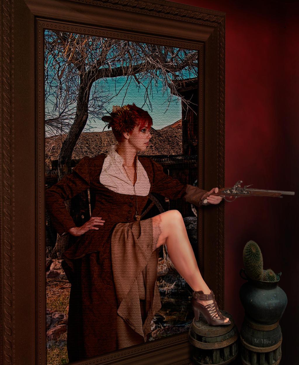 Frame bandit-La bandolera del cuadro by Mvicen