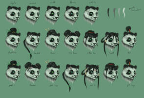 Pandaren Face Mash by DuskDiamond