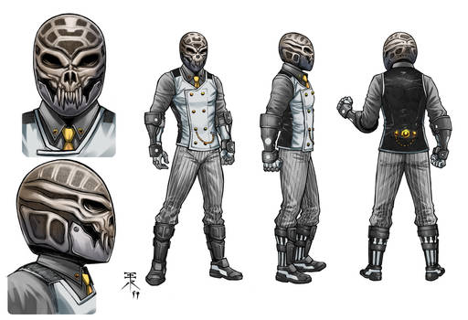 Adversary model sheet with Color by Europa777 and