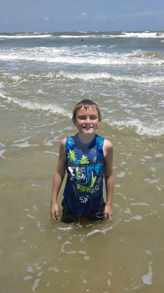 my son at the beach by STreasureGraphicArts