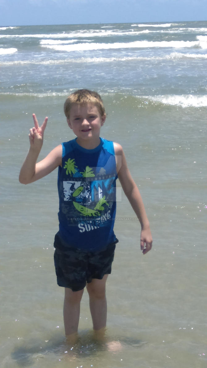 my son at the beach 2 by STreasureGraphicArts