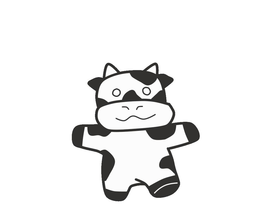 Random art - Cow of the internet by reishinigami13