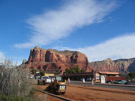 Road work at Red Rock