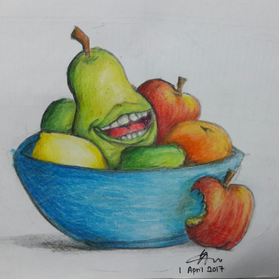 Disguise in a Fruit Bowl by CrazyDragon2000