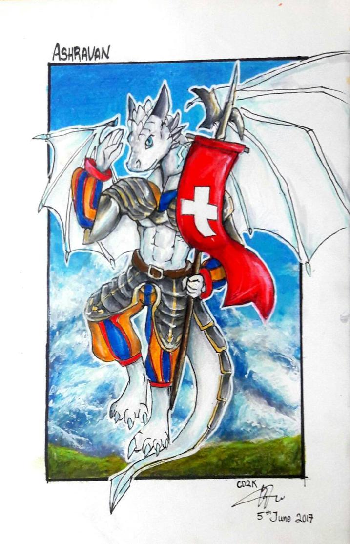 Ashravan Guardian of the Alps by CrazyDragon2000