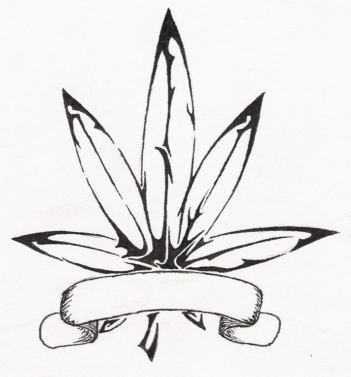 How To Draw Weed Leaf