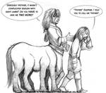 Draw a centaur day - Sleipnir and his mommy