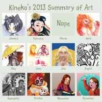 2013's summary of art by kineko