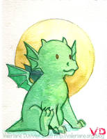 Watercolor in convention : Baby Dragon by kineko