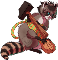 Racoon Beeguh [SOLD] by kineko