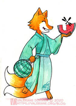 Watermelon kitsune