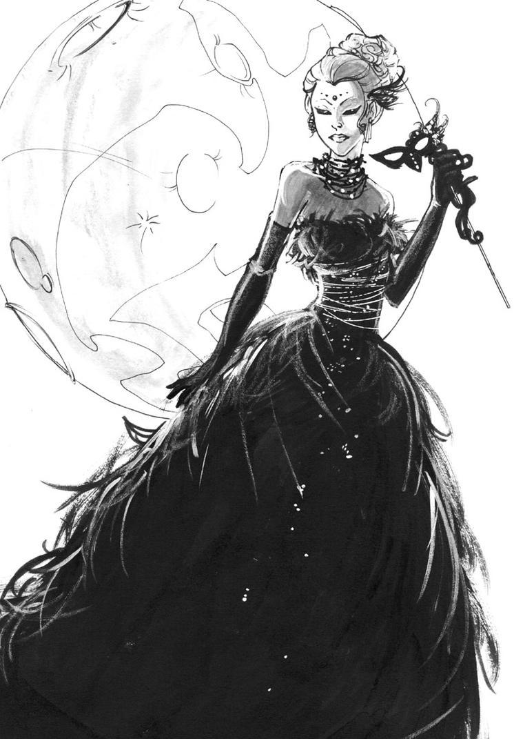 The Raven Queen Masquerade. by imaginarium