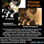 Photoshop Demos Resource #33 - Vintage Stylings