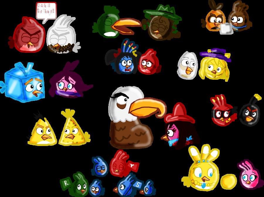 Angry Birds Meets Hanna Barbera Birds By