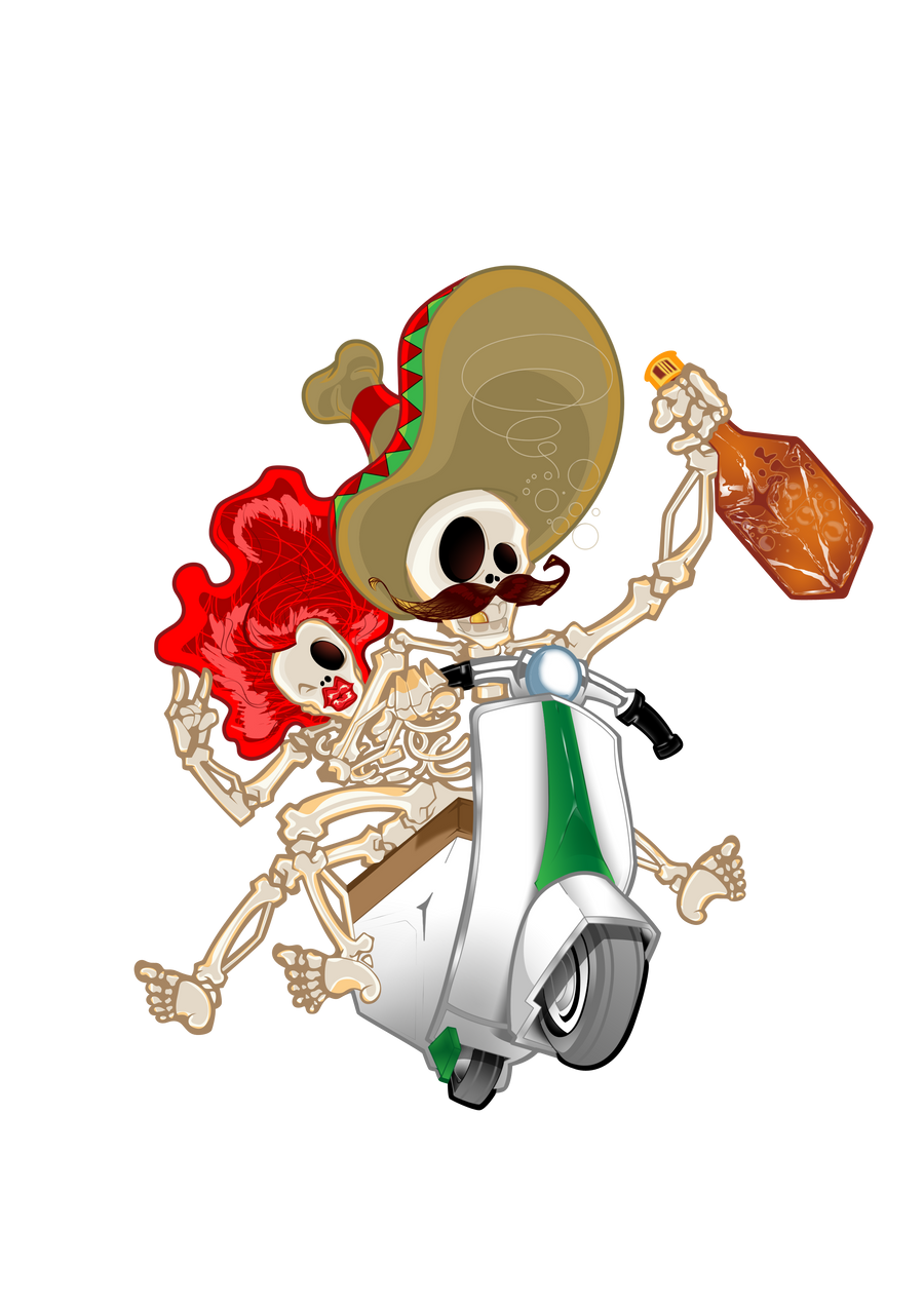 Scooters Skeletons by iguimbe