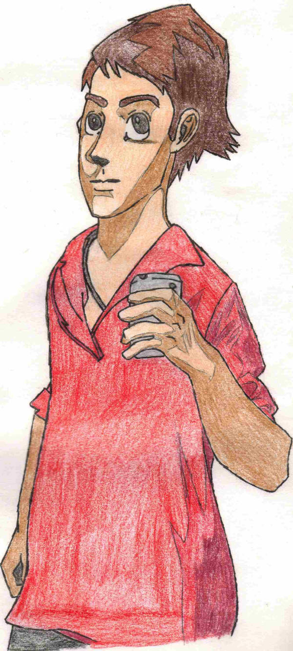 Sketch of Shuichi-bleach-blond
