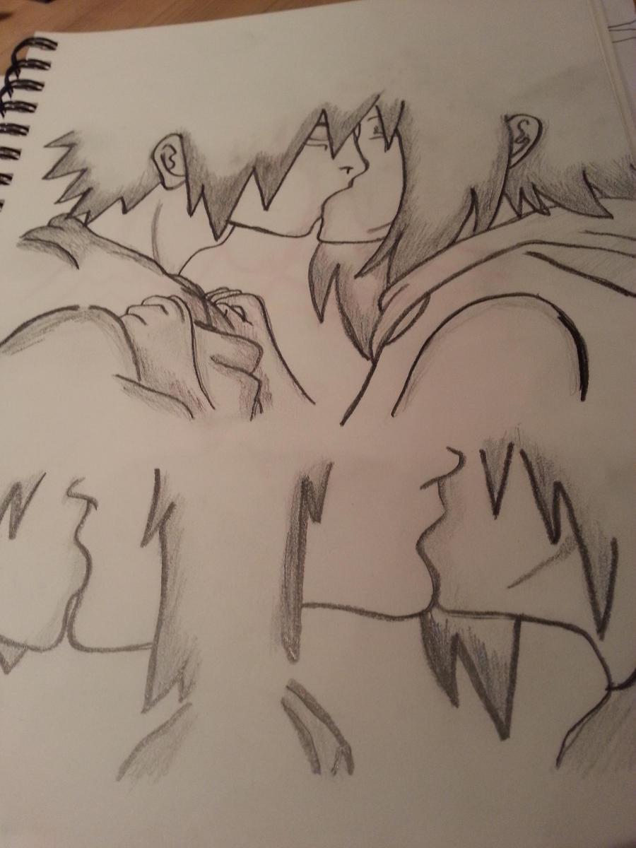 Sasuke Uchiha and Sakura Haruno Kissing by C0ncrete on DeviantArt
