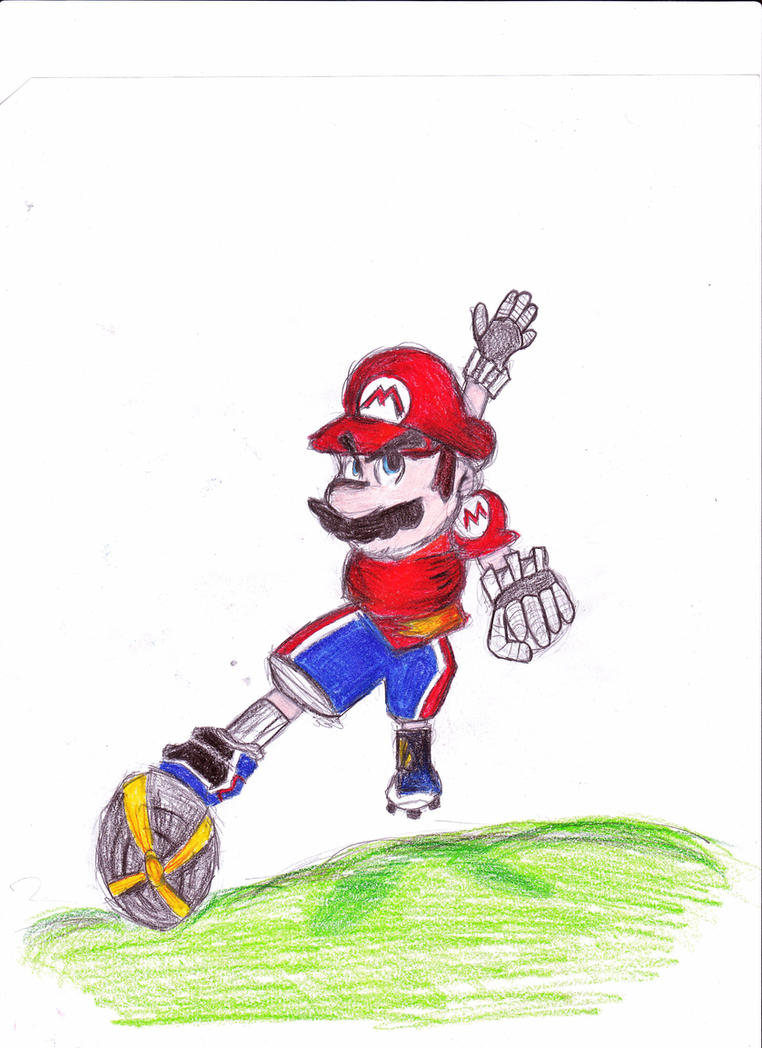 Mario strikers charged mario by drgengar on deviantart for Mario strikers coloring pages