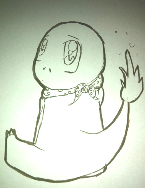 charmander coloring page by drgengar on deviantart