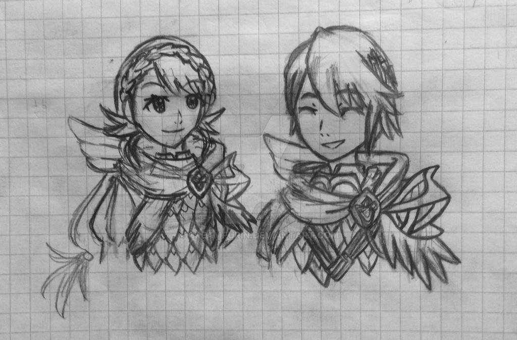 Alfonse and Sharena by CreamPurin