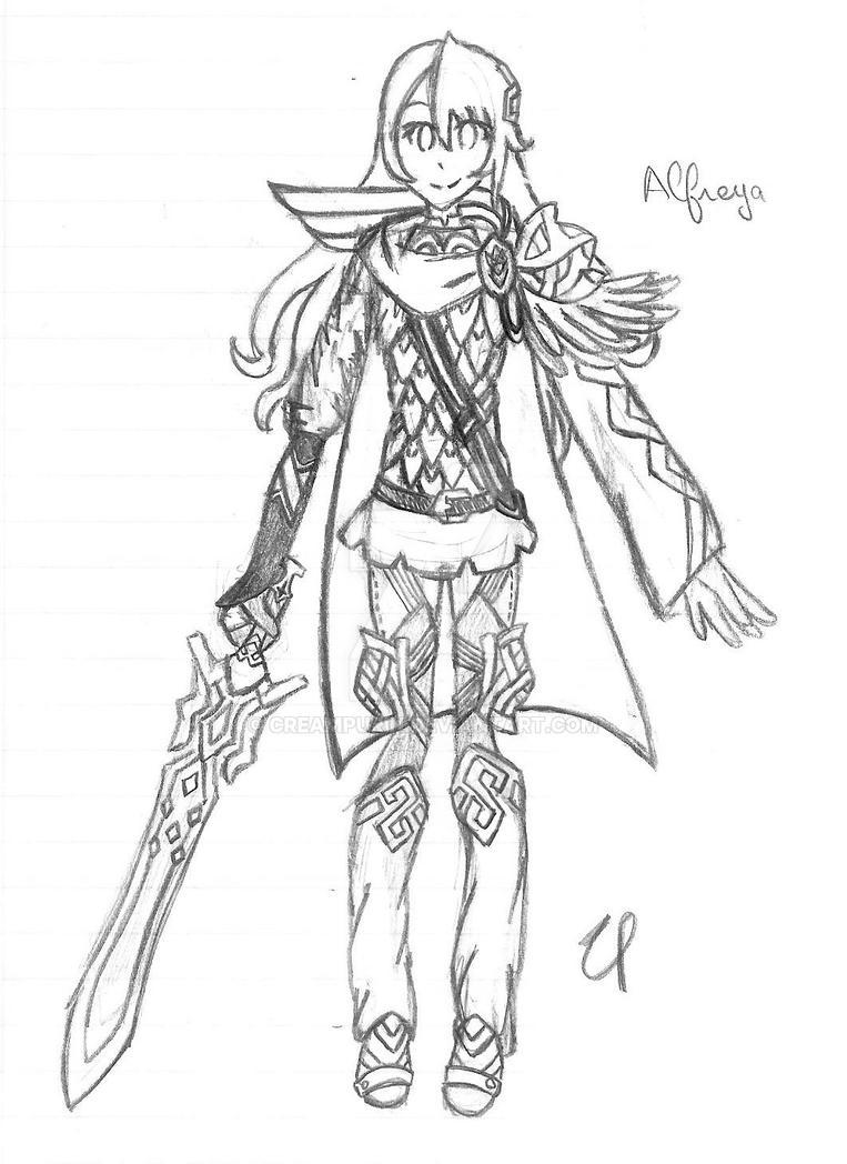 Alfreya Sketch by CreamPurin