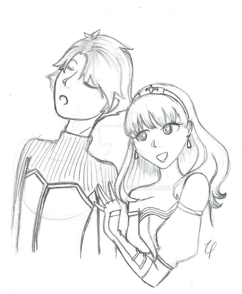 Alm and Celica by CreamPurin