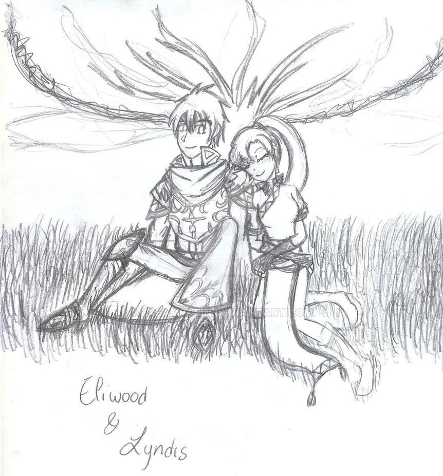 Eliwood X Lyndis by CreamPurin