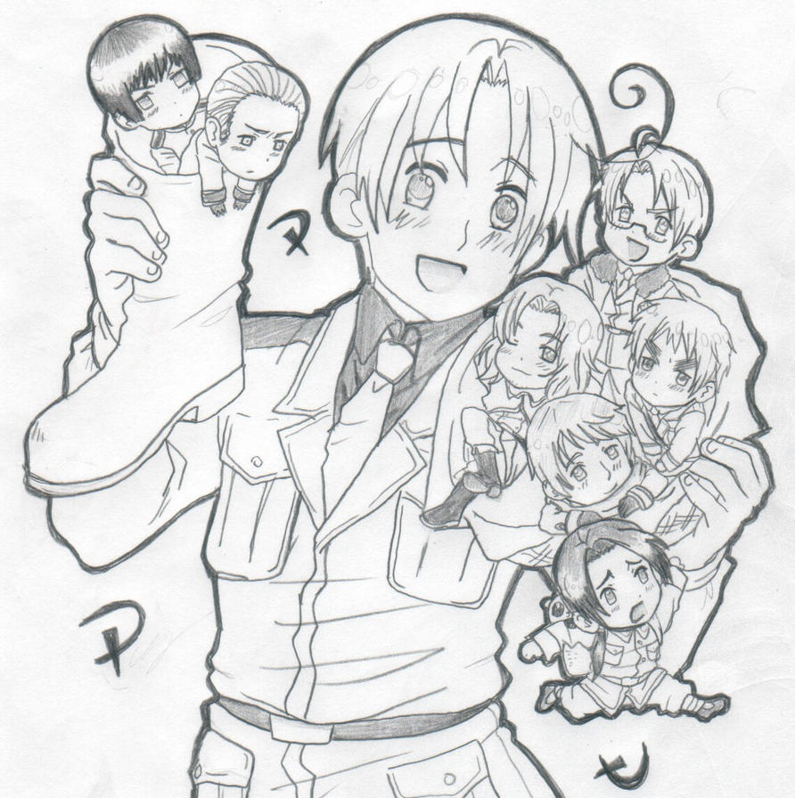 anime hetalia coloring pages - photo#5