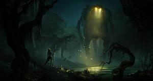 Swamp Adversaries by jonathanguzi