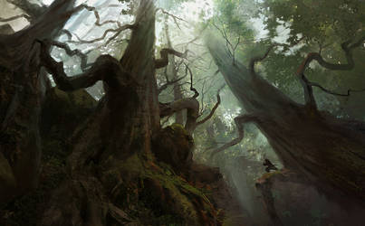 Towering Forest by jonathanguzi