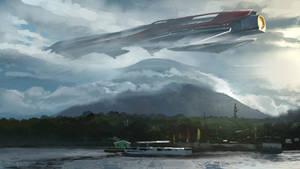 Spaceship Sketch by jonathanguzi