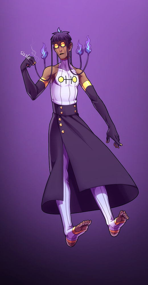 Chandelure gijinka by YonYonYon