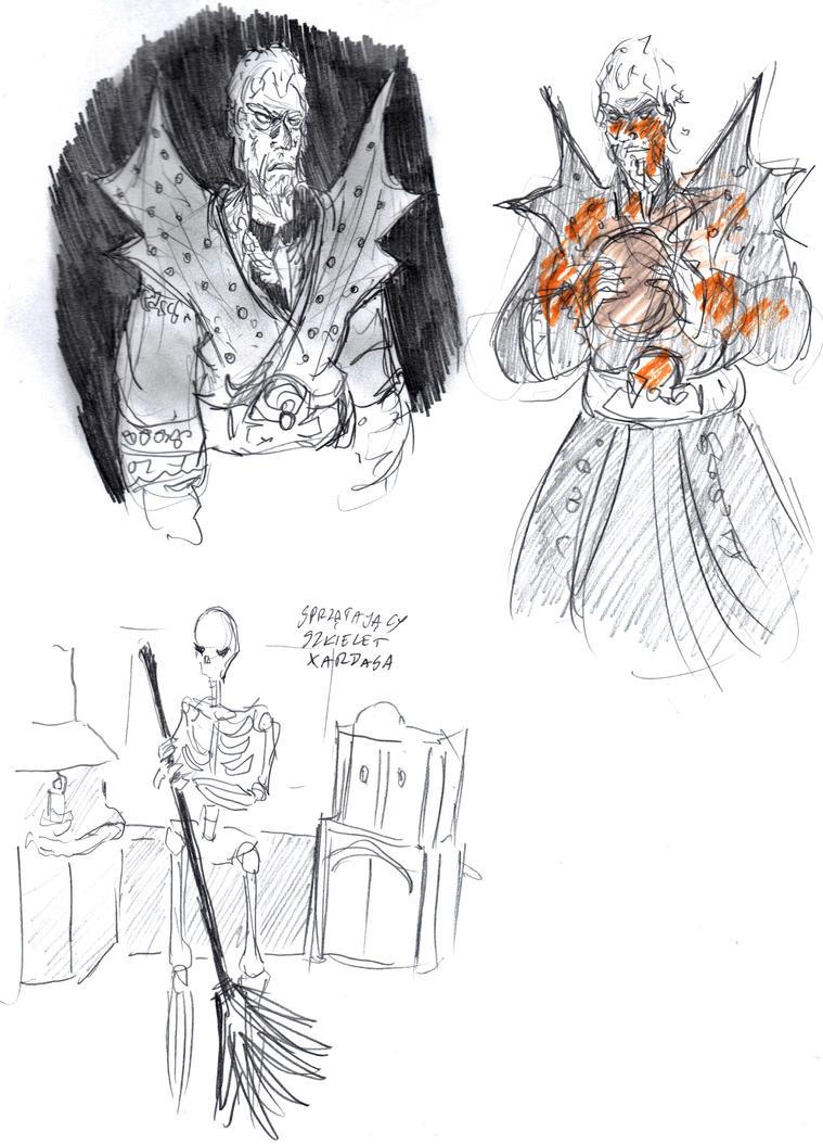 necromancer sketches by DoriDoriSushi