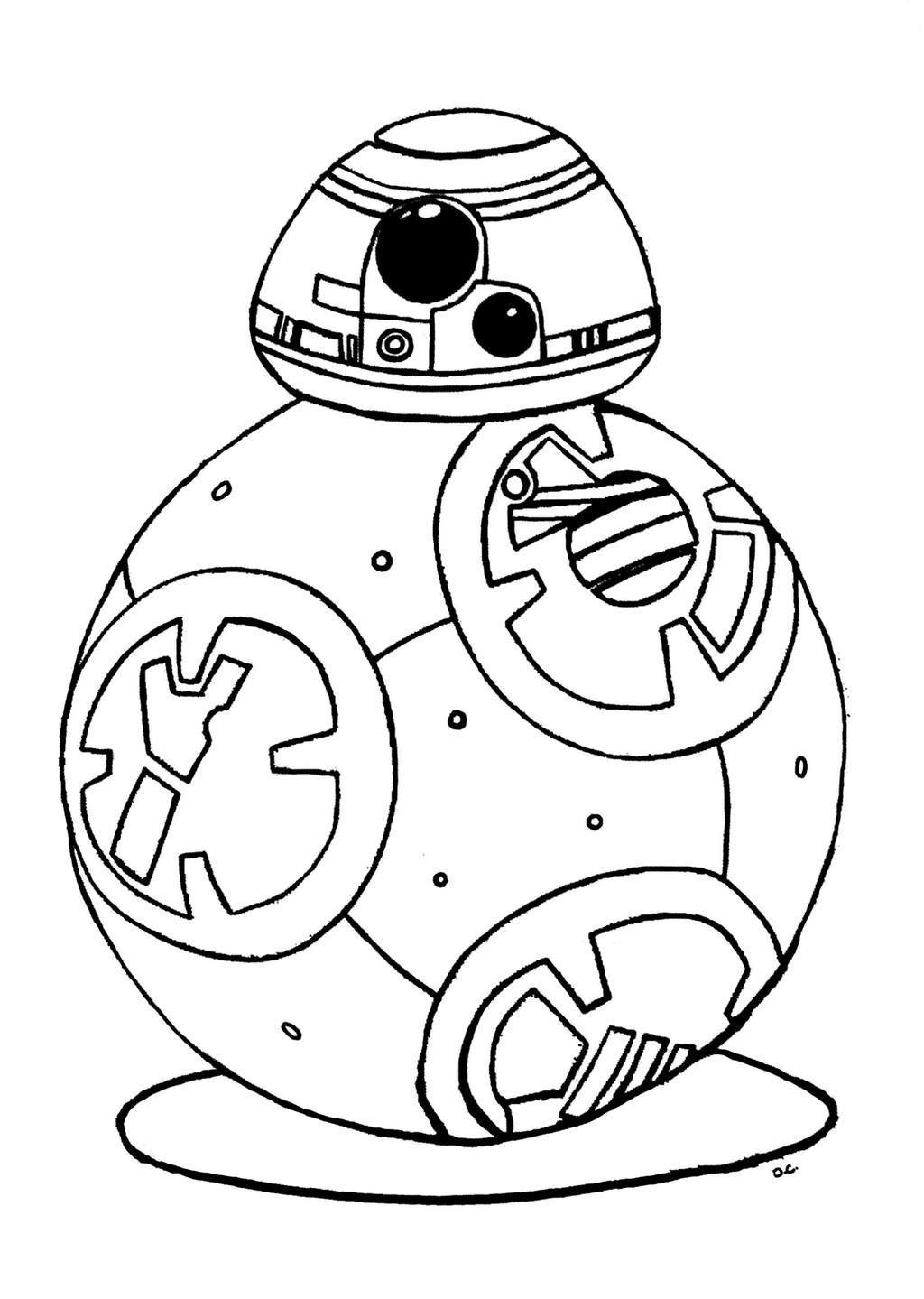 Bb 8 coloring pages -  Coloriage Bb 8 Star Wars 7 Reveil De