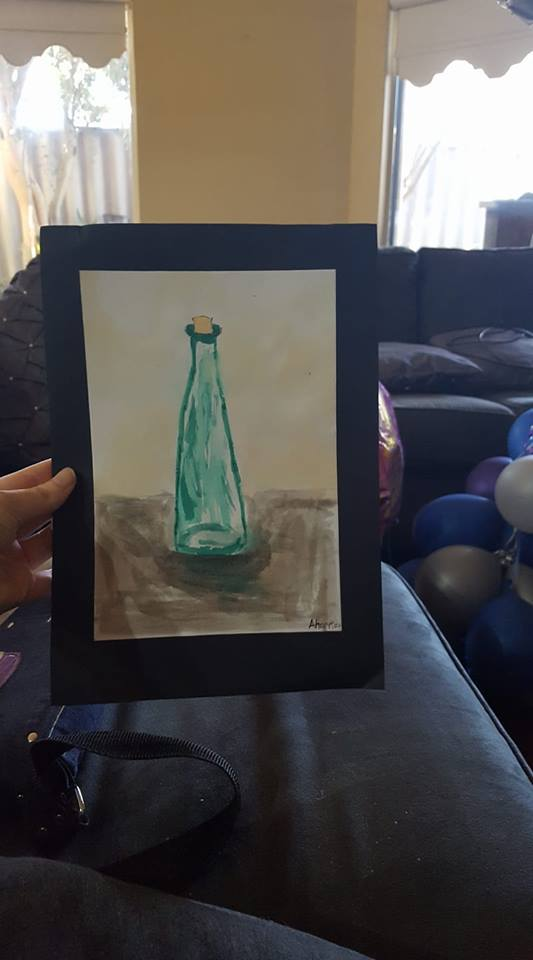 Water Painted Glass by SophieSharkley