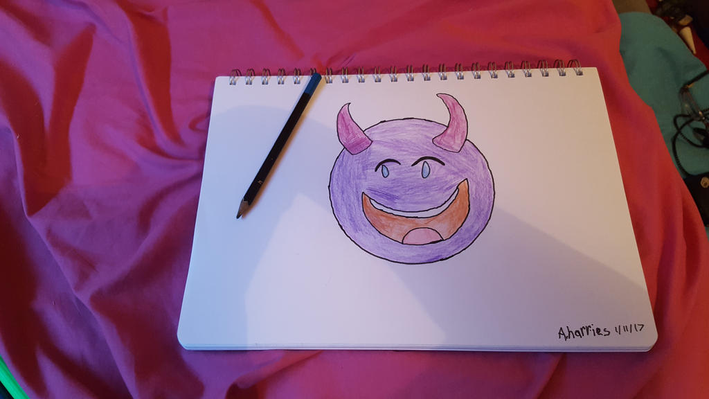 Evil Laugh Emoji by SophieSharkley
