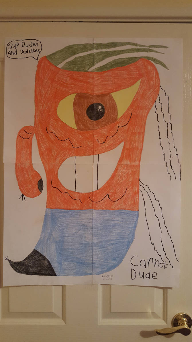 Carrot Dude Poster