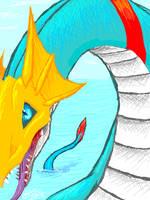 Digimon: Seadramon by Pink-Shimmer