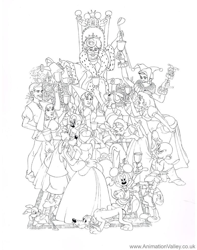 Disney Coloring Pages Villain