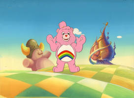 Original Hand Painted Care Bears Production Cel