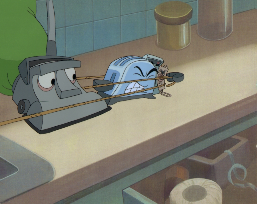 Hand Painted Brave Little Toaster Production Cel By
