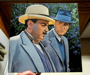 Poirot and Hastings - from Murder on the Links by auggie101