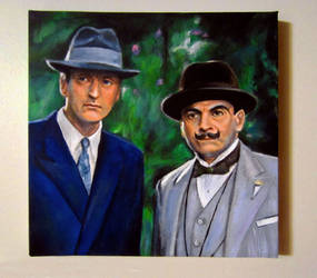 Poirot and Hastings - acrylic by auggie101
