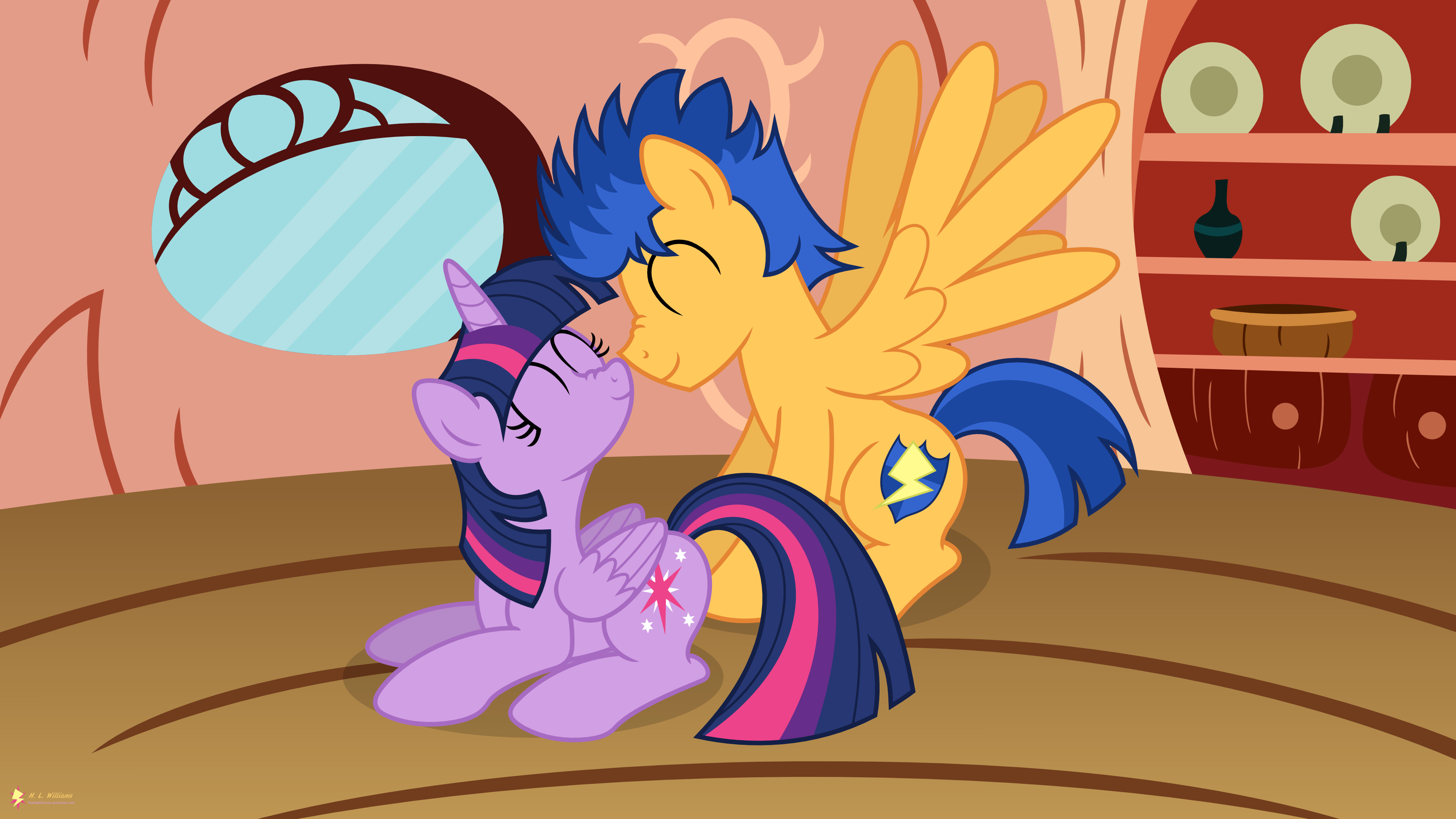 My little pony princess twilight sparkle and flash sentry kiss - photo#46