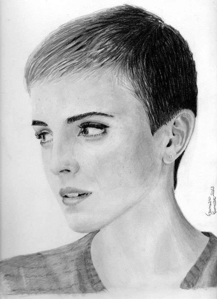 Emma Watson New Haircut Pencils By Francescopan On Deviantart